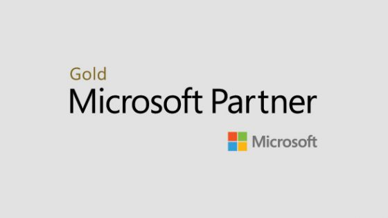 Featured Image - Logo of Microsoft Gold Partner on light grey background