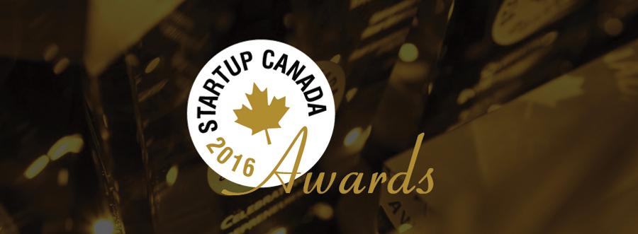 Featured Image - Logo of Startup Canada 2016 Awards on dark background