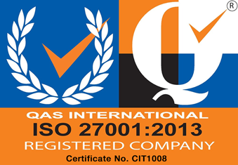 QAS International ISO 27001:2013 Registered Company Certificate No. CIT1008