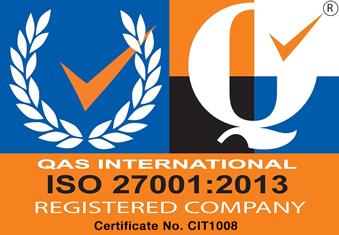QAS International ISO 27001:2013 Registered Company Certificate No. CIT1008