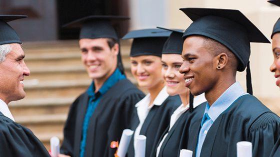 Photo - Grad Students and Professor