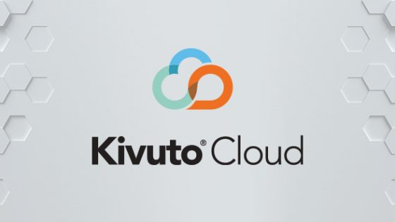 Logo - Kivuto Cloud, and A Hexagonal Abstract Background