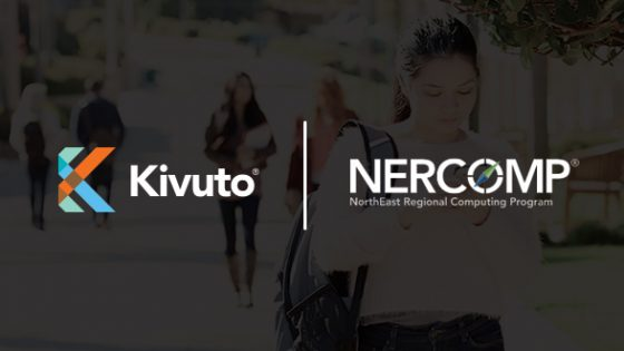Featured Image - Kivuto and NERCOMP logos on dark background
