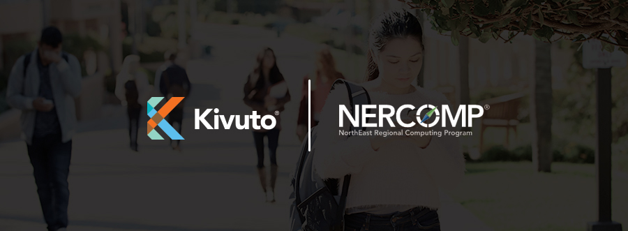 Featured Image - Kivuto and NERCOMP logos on dark background