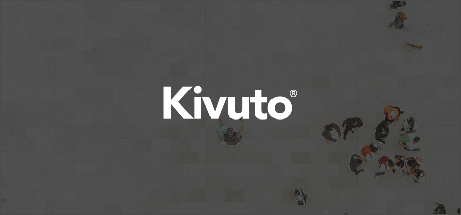 Top-Down Image of People Meeting with Kivuto Logo Overlay