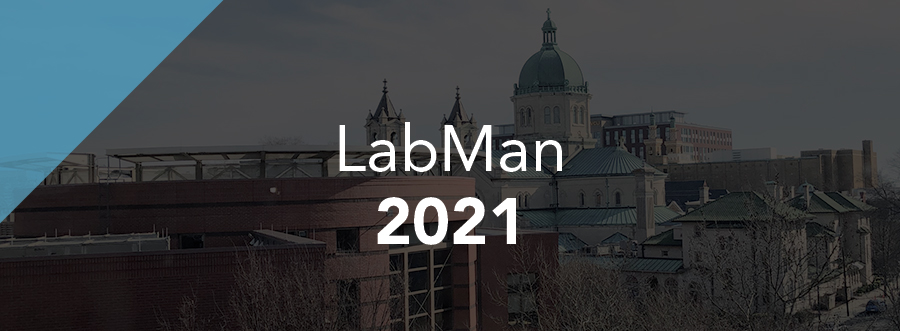 Featured Image - Event LabMan 2020 with dark background of institution