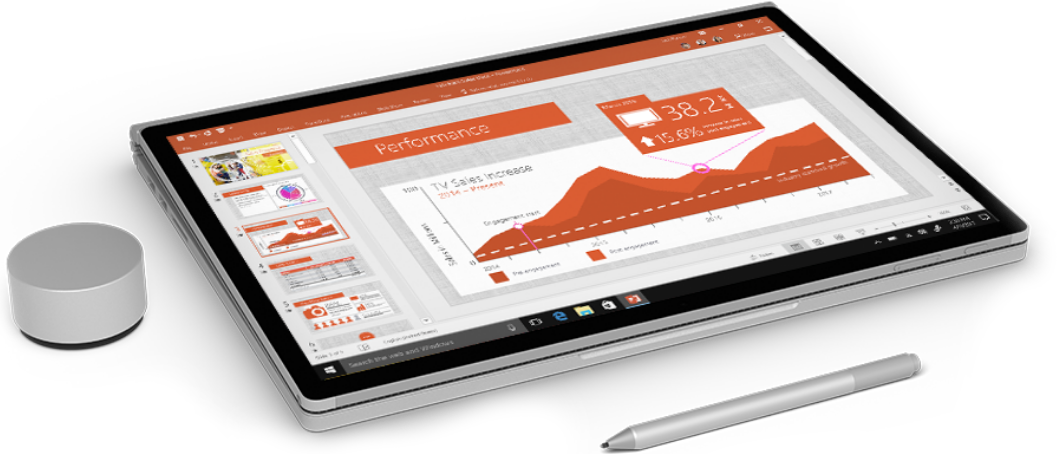 Surface Tablet with Office PowerPoint