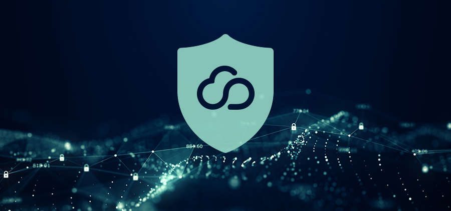 Featured Image - Cloud Icon on Shield Symbol with Dark Background