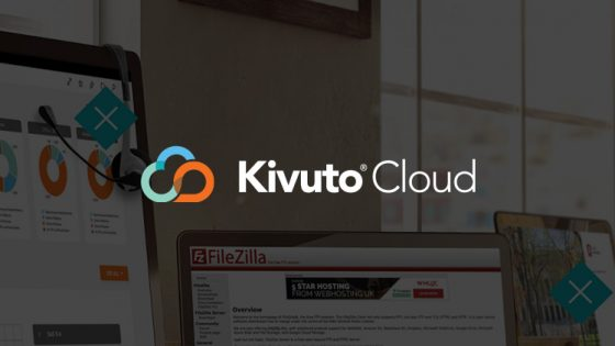 Featured Image - Kivuto Cloud Logo on Dark Background