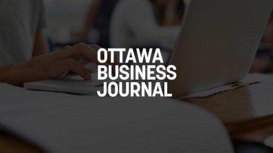 Featured Image - Ottawa Business Journal Logo on Dark Background