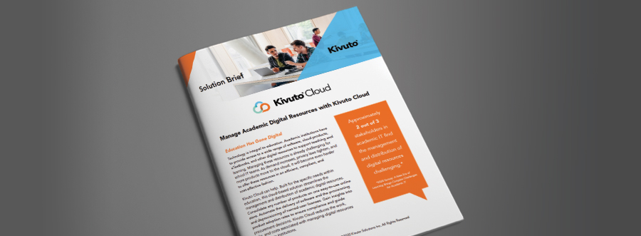 Image of Document: Solution Guide for Kivuto Cloud